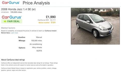 Used Honda Jazz Dsi Se On Finance In Birkenhead 50 Per Month No Deposit