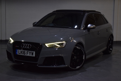 Used Audi RS3 RS3 2.5 TFSI SPORTBACK S TRONIC QUATTRO 5DR (NAV) on  Audi Rs Black on 2014 audi tt black, 2016 chevrolet colorado black, 2016 audi tt colors, audi a6 black, 2016 ford rs black, 2016 audi q7, 2016 camaro rs black, 2016 lexus ls black,