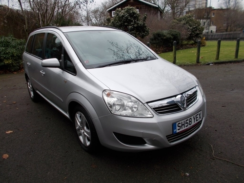 Used Vauxhall Zafira On Finance From 50 Per Month No Deposit